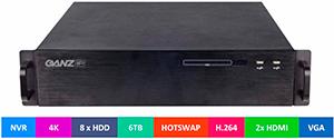 Сетевой видеорегистратор 4K с поддержкой 32-х IP-камер и до 8 HDD SATA